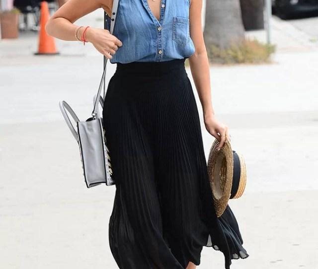 Jamie Chung Midi Skirt Blue