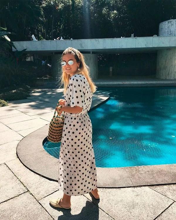 Nathalia Medeiros - vestido-poa - poá - verão - street style