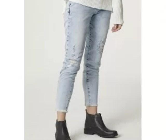 Calca Jeans Skinny Feminina Com Detalhe De Botoes