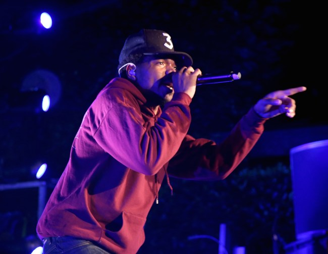 LOS ANGELES, CA - JUNE 13:  Chance The Rapper performs onstage durinng Take-Two's Annual E3 Kickoff Party at Cecconi's Restaurant on June 13, 2016 in Los Angeles, California.  (Photo by Jonathan Leibson/Getty Images for Take-Two Interactive )