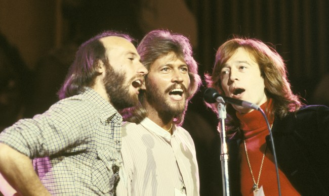Maurice Gibb, Barry Gibb, and Robin Gibb (Bee Gees) (Photo by Ron Galella/WireImage)