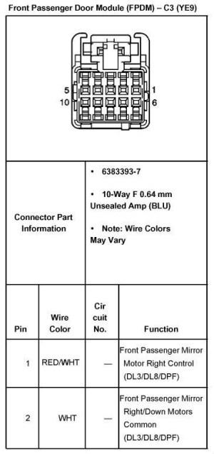 04 2500HD mirror wiring  Street Source