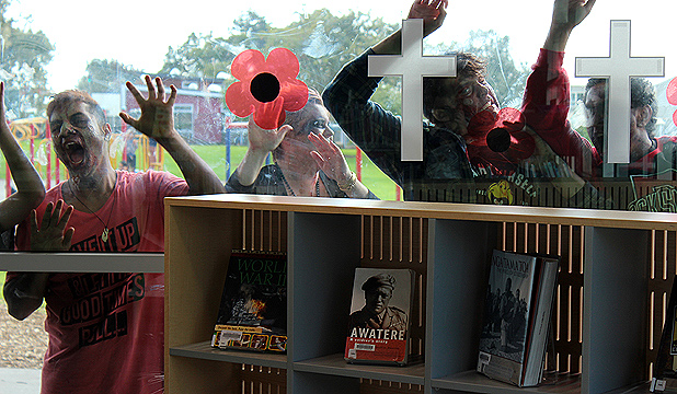 Zombie hordes encroach on Auckland's Tupu Youth Library