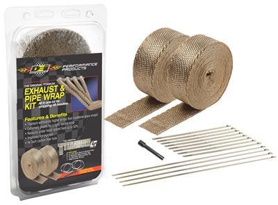 dei titanium exhaust and header wrap kits