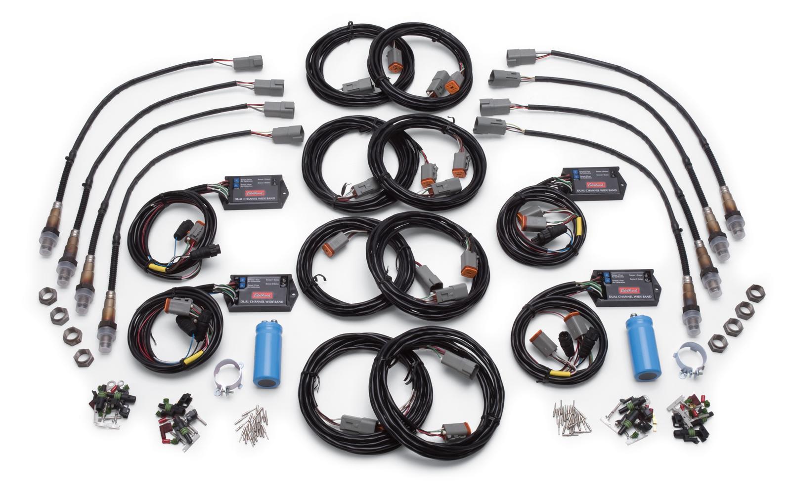 Edelbrock Qwikdata 2 8 Channel Wideband Air Fuel Ratio Monitor Kits