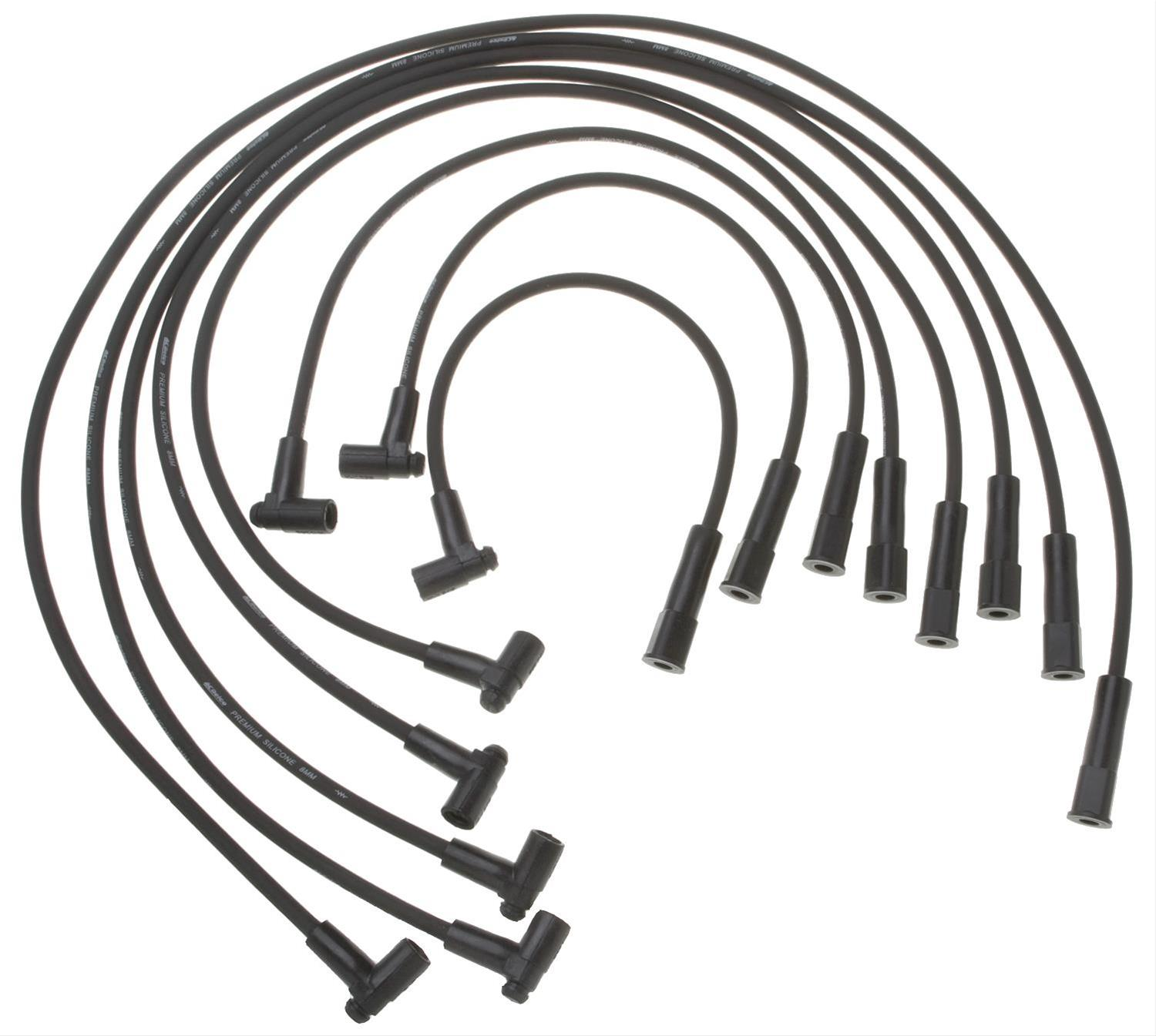 Cadillac Deville Acdelco Spark Plug Wire Sets