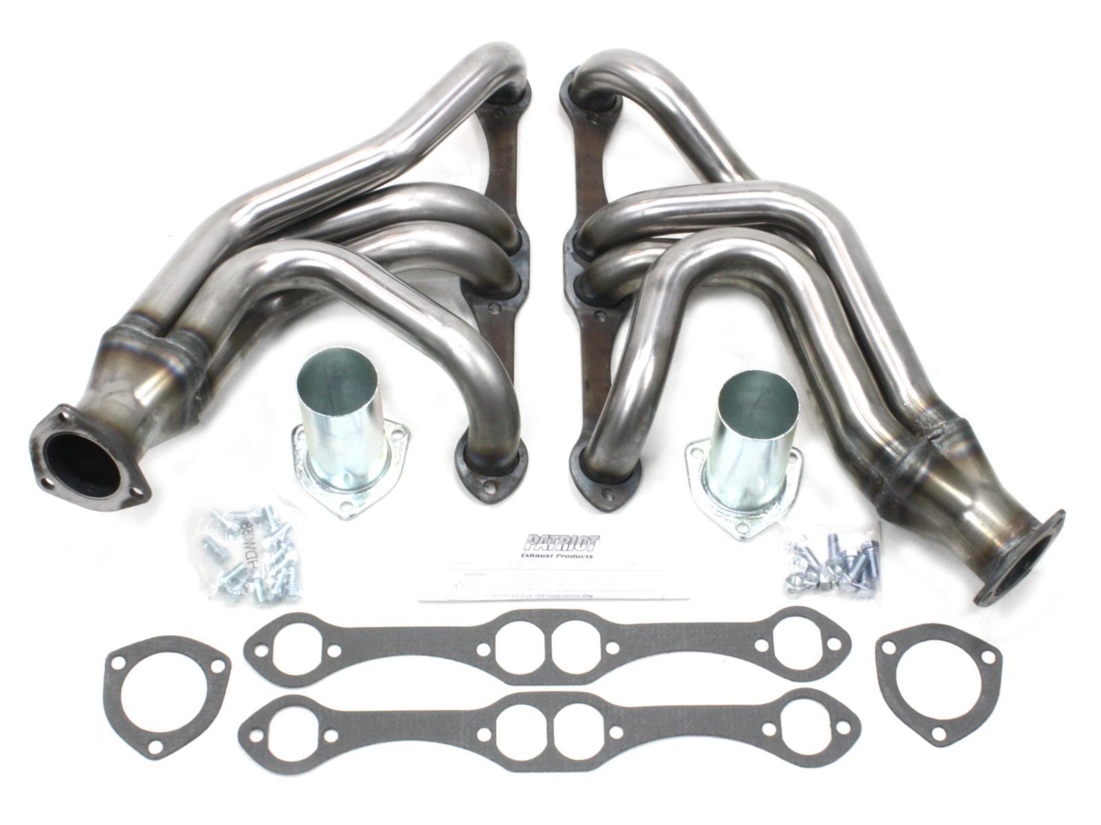 Patriot Exhaust Headers Tri 5 Shorty Steel Natural Chevy
