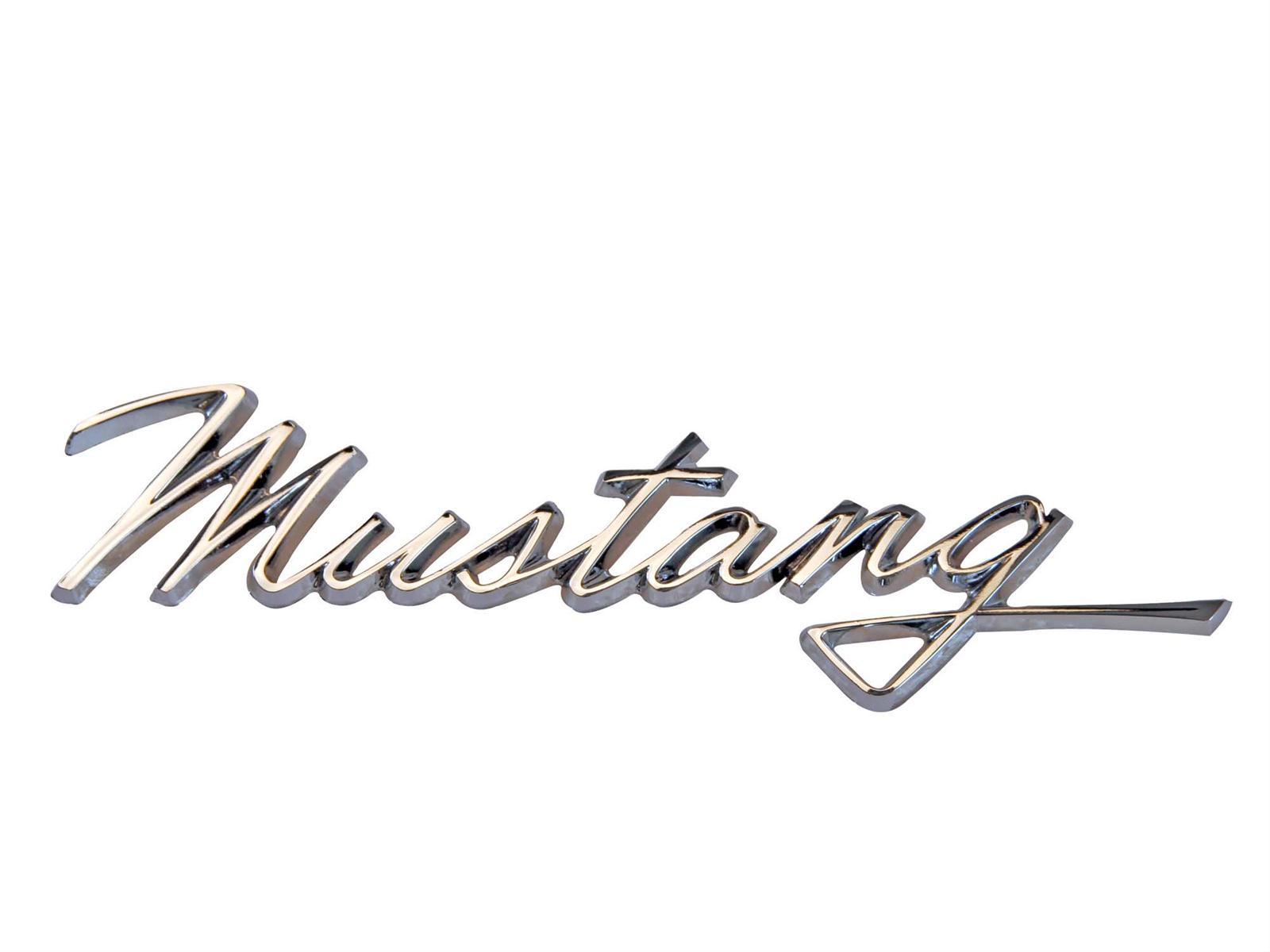 Scott Drake Emblem Fender Location Chrome Mustang Script