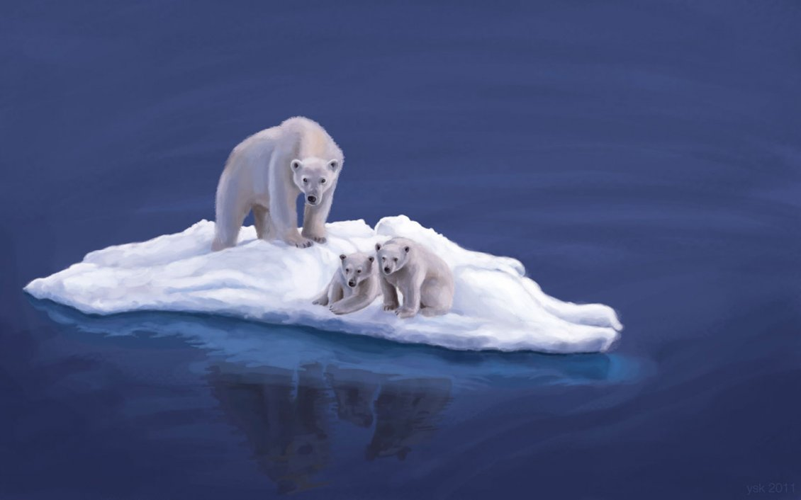 Two Bear Cubs Christmas