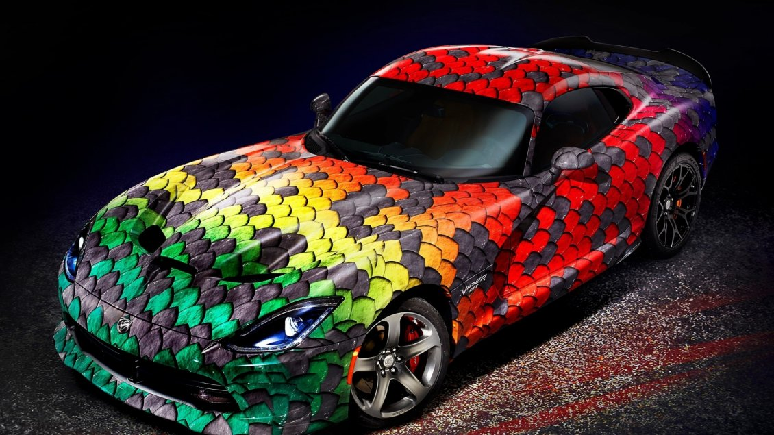 Fantastic Car Dodge Viper Snake Skin