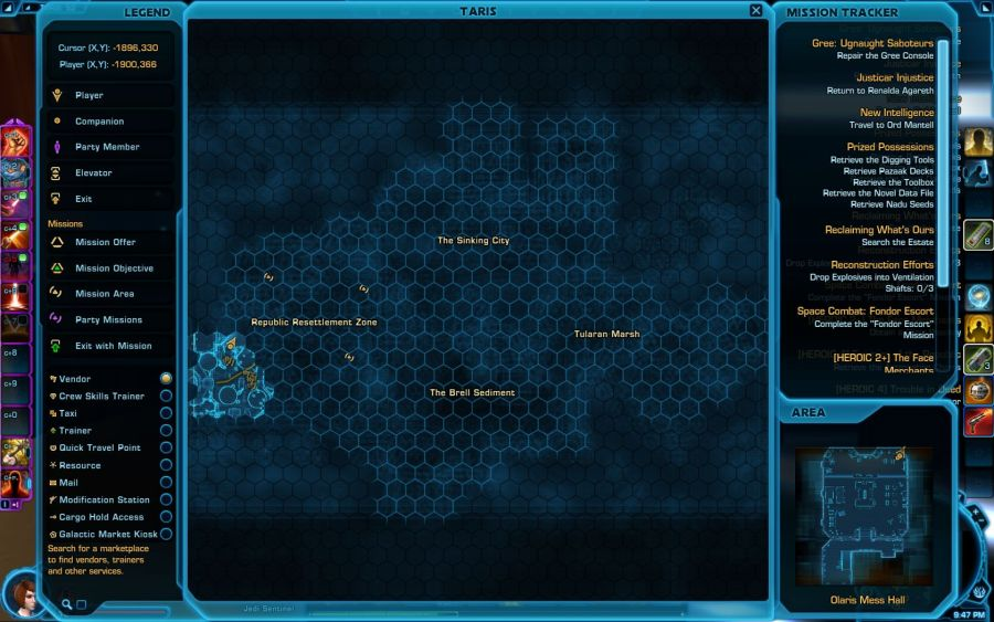 Tatrog Companion Customization Vendor World Map   SWTOR Guides for     Tatrog Companion Customization Vendor World Map