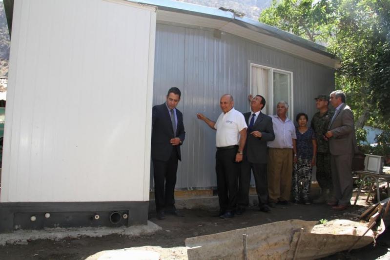 Se levantaron un total de 780 viviendas de emergencia en el sector.