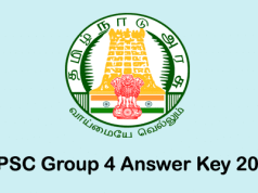TNPSC Group 4 Answer Key 2018