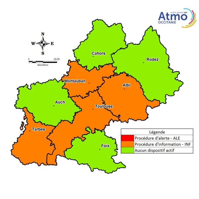 Pollution aux particules fines ce mercredi à Tarbes et dans les Hautes pyrénées