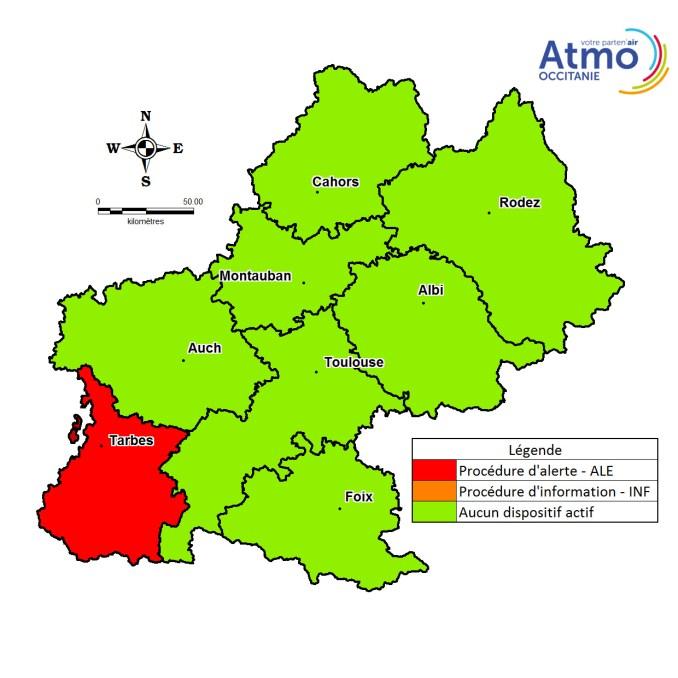 l'air sera une nouvelle fois pollué mercredi à Tarbes