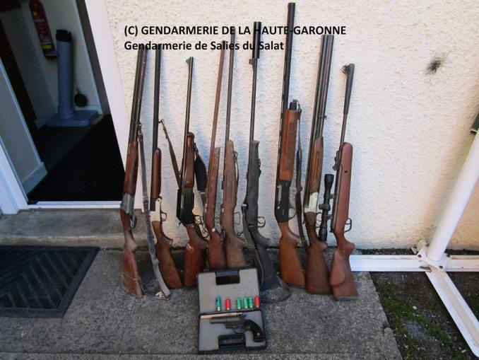 De nombreuses armes découvertes à Aspet au sud de la Haute Garonne