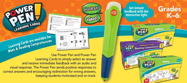 Power Pen Math and Reading Comprehension Cards