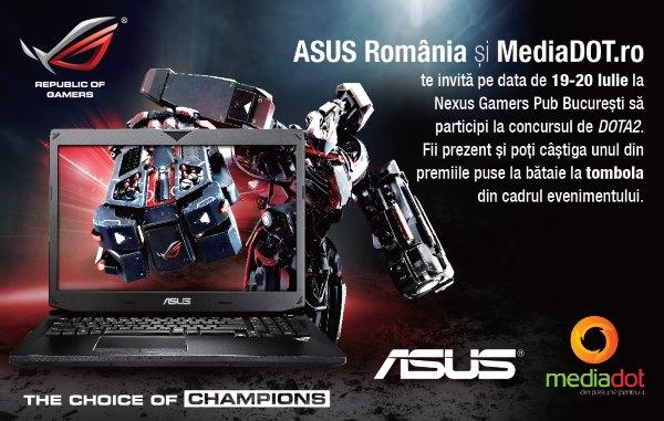 ASUS vă invită împreună cu MediaDOT la Nexus Gamers Pub
