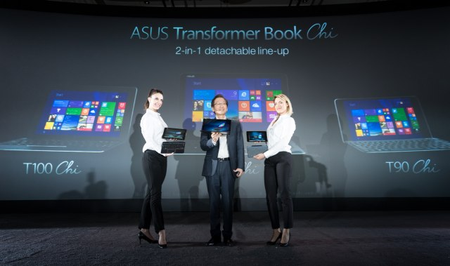 Președintele ASUS, Jonney Shih, prezintă noua serie ASUS Transformer Book Chi