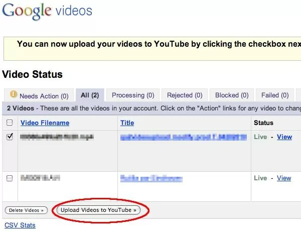 Google backpedals: offers Google Videos to YouTube ...