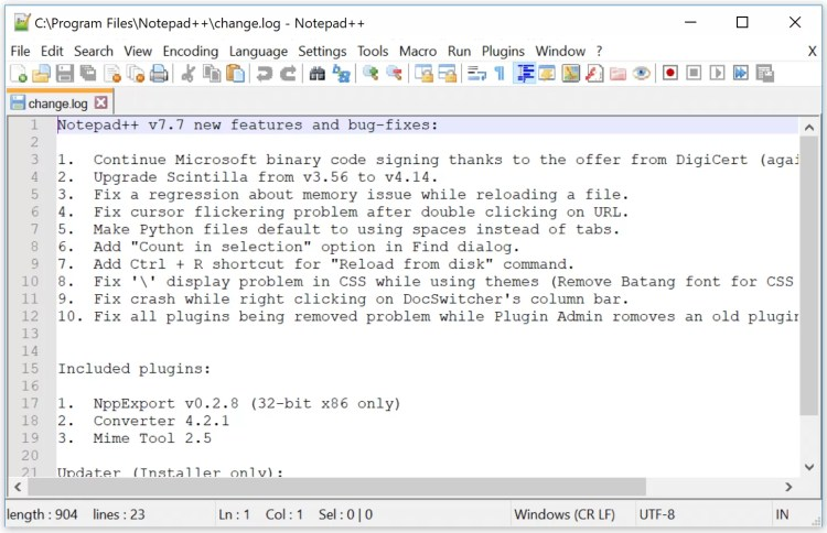 Notepad++ 7.9.1 Download