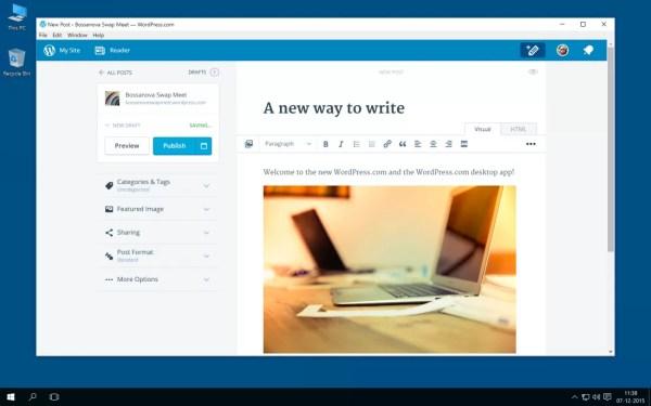 The WordPress.com desktop app for Windows is here - TechSpot