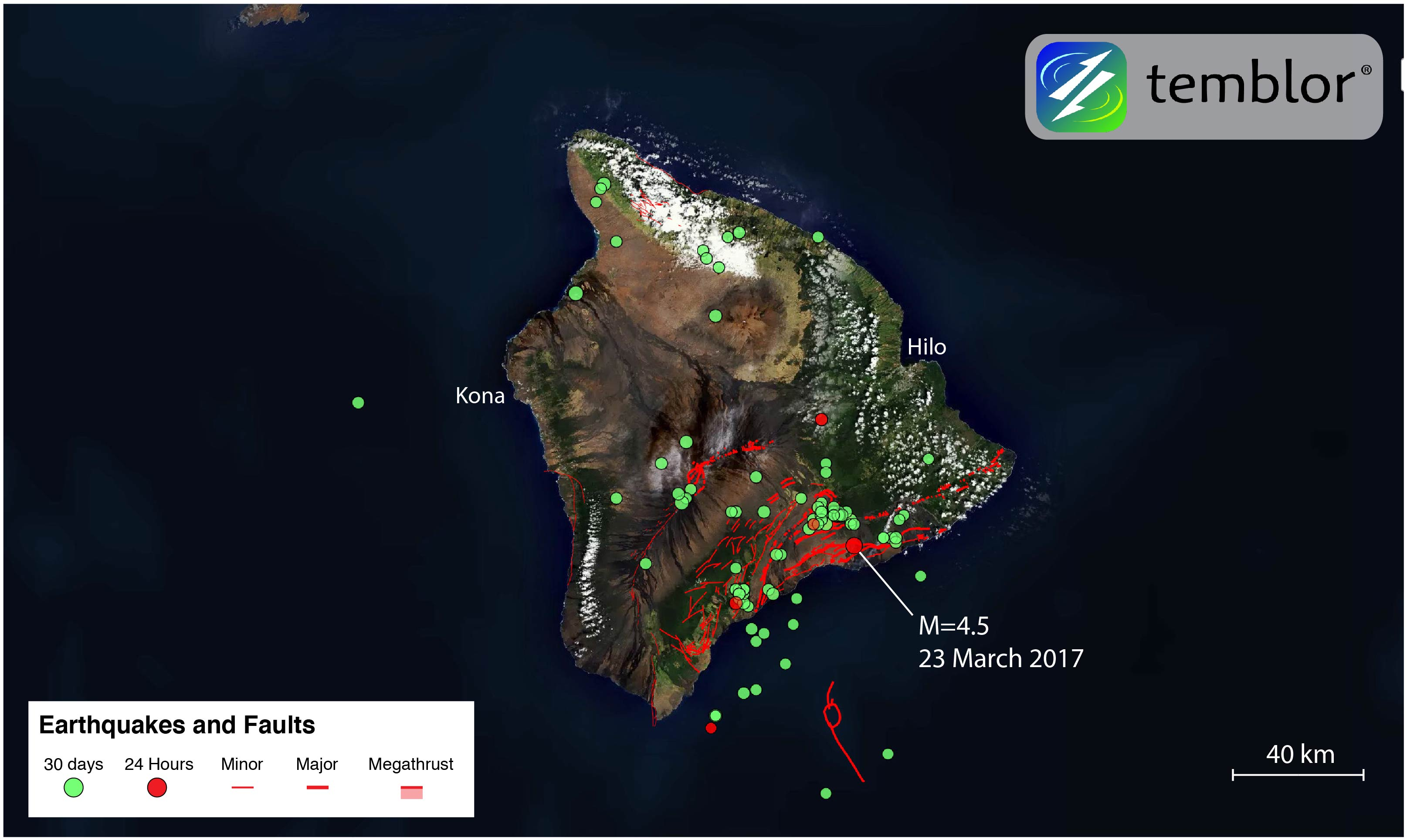 Hawaii is a group of eight major volcanic islands and 124 islets in the central pacific ocean. M=4.5 earthquake highlights Hawaii's tectonic past ...
