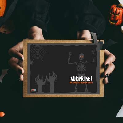 carte d invitation halloween a imprimer