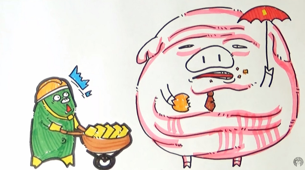 A still from a cartoon clip by Ech Phu Ho. The clip is part of the Hanoi-based group's campaign calling on Vietnamese youth to speak out their rights regarding state budget.