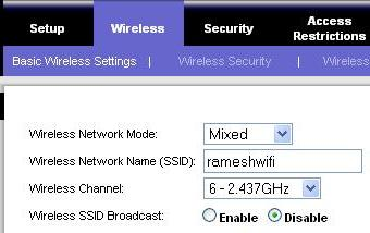 Disable SSID Broadcast