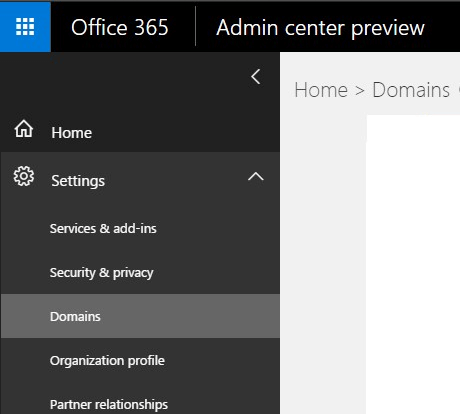 Office 365 Domains