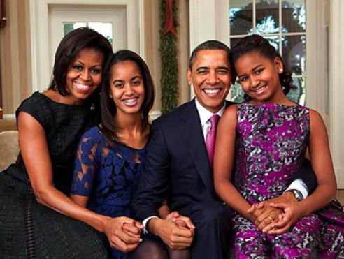 Obama Family Portrait 2011