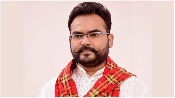 Brajesh Kumar Prajapati, the BJP MLA from Tindwari in Banda district | Facebook/@brajeshprajapatibjp