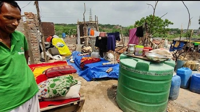 Many residents of Khori village continue to live in the area, without a roof, after their homes were demolished | Shubhangi Misra | ThePrint