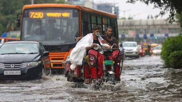 Waterlogging after heavy rainfall in New Delhi, on 14 July 2021   ThePrint   Suraj Singh Bisht