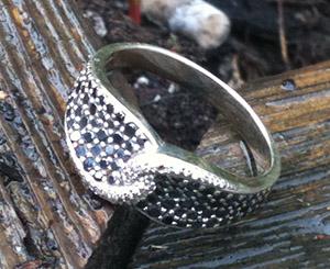 Gold & Black Diamond Wedding Ring