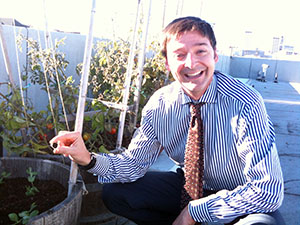 Jeff found his lost wedding ring in his rooftop garden in San Francisco
