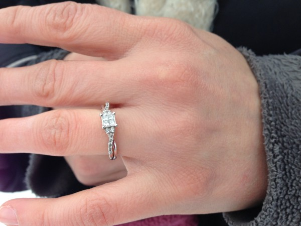 Womans engagement ring lost in the snow in Inver Grove MN Now found