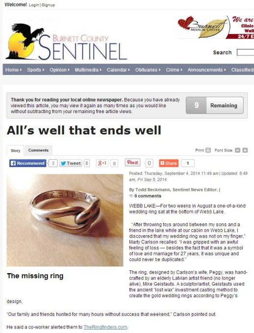 Burnett County Sentinel Article Thumbnail