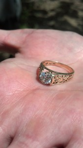 "Lost Gold Diamond Woman's Ring at lake in Ohio. ""FOUND"""