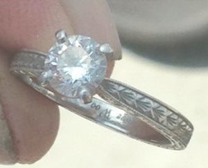 Diane's Platinum Engagement Ring - 1
