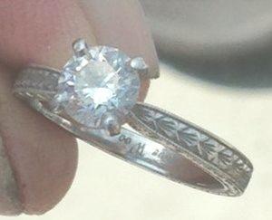 Diane's Platinum Engagement Ring - 1