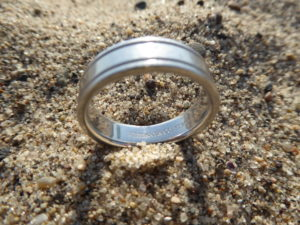 Platinum Tiffany Co Wedding Band Lost at Will Rogers State Beach