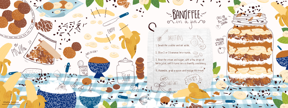 Banoffee in a jar by Sofia Cardoso - They Draw & Cook