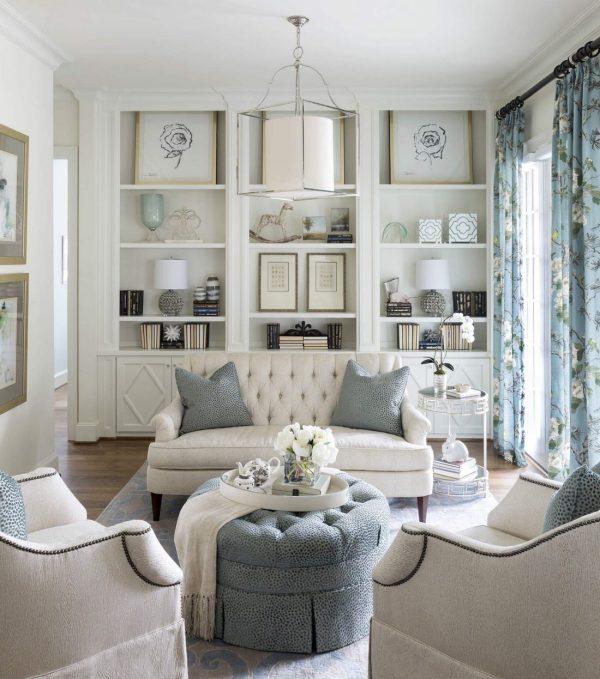 Дизайн гостиной в стиле прованс: интерьер в светлых тонах