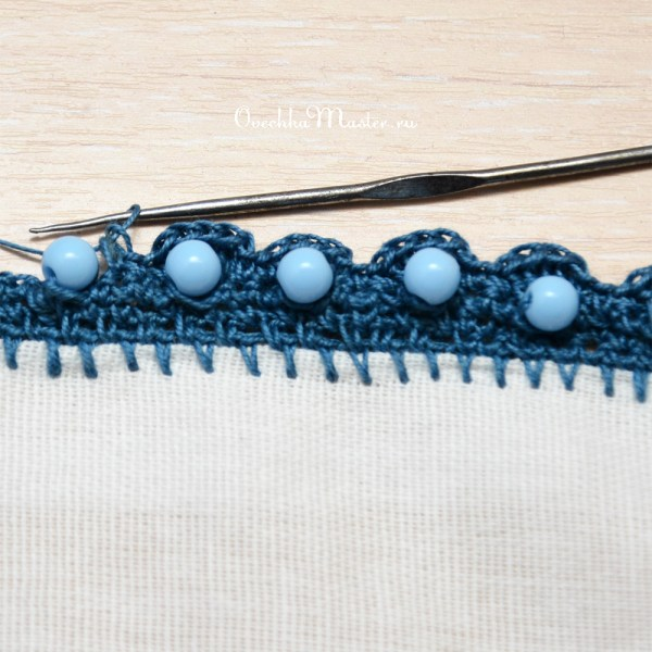 Вязание крючком бусин без нанизывания на нить