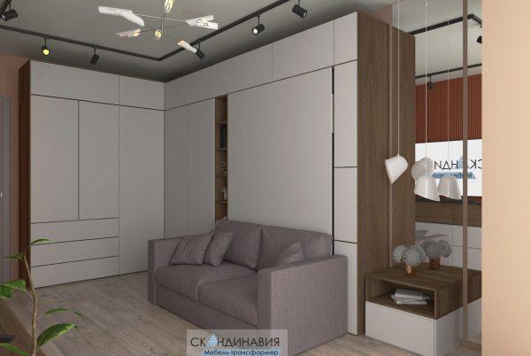Шкаф-кровать-диван для 1-ком.кв (4 фото)