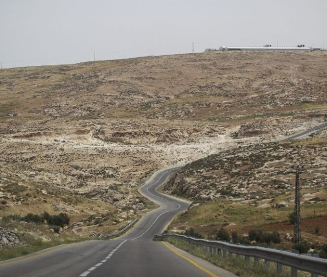 Illustrative A Road Passing Through The South Hebron Hills In The West Bank