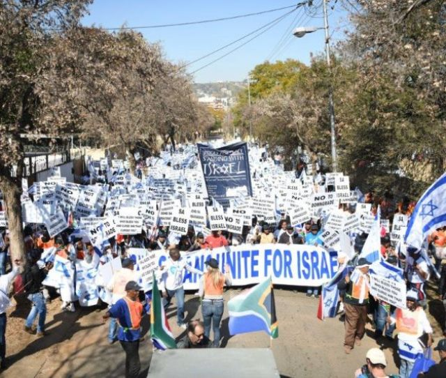 Thousands March In Solidarity With Israel In Tshwane South Africa Courtesy Of South African Friends Of Israel
