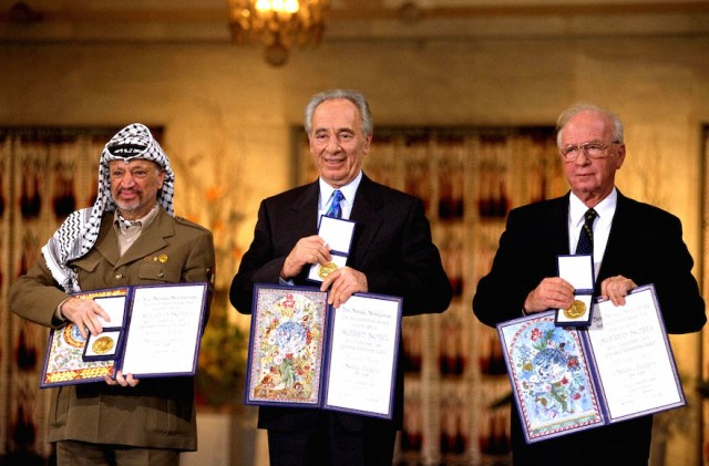 Hamas returns Arafat's Nobel prize to PA | The Times of Israel